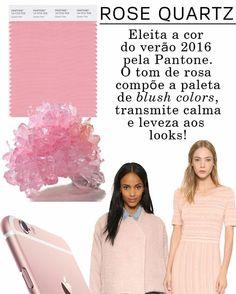 """"""" Agora me aguentem  Rose Quartzo eleita a cor do verão 2016 #amomuito #love #rose #quartzo #quartzorosa #verão2016 #pantone"""""""