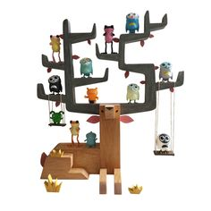 Autumn Stag, designed by Gary Hamm sold by Pobber Toys. Example of how you can display figures on the piece.