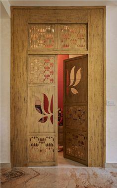 Pooja Room Door Design, Main Door Design, Home Room Design, Dream Home Design, Home Interior Design, House Design, Temple Design For Home, Indian Room, Mulberry Home
