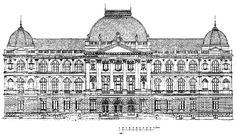 The main facade of the old Institute of Technology Austria © University Archives TU Graz