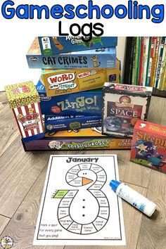 Are you a gameschooler who is looking for an easy way for your kids to keep track of the games that you play during your homeschool day? Your children can mark a space using crayons, stickers, or dot markers on these Monthly Gameschool Logs every time they play a game! There are 2 different versions and both are in color and black and white. Click on the picture to get your Gameschool Logs for the year for FREE! #gameschooling #gameschool #homeschoolingwithgames #homeschooling #homeschool