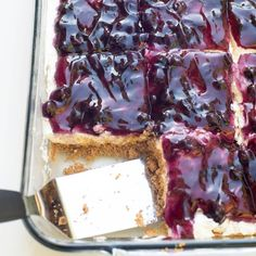 This Easy Blueberry Cheesecake Dessert is a delicious make-ahead choice for your next gathering.