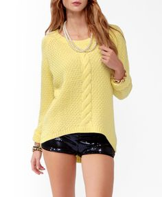 High-Low Textured Knit Sweater | FOREVER21 - 2031557740