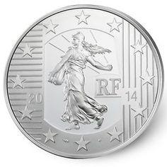 Säerin / Semeuse aus Frankreich, Silbermünze mit Jahrgang 2014