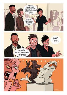 gay comics — tobiasandguy: Masterpiece Baphomet rides the...