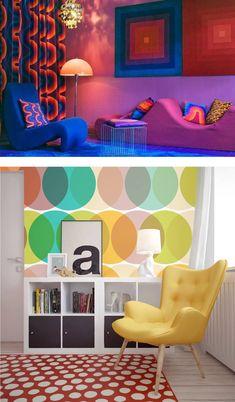 Casinha colorida: Decoração: as tendências por décadas (os anos 70)
