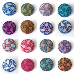 Beautiful printed cloth buttons