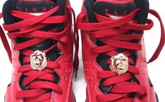 Details about Metal shoe Laces Locks ( 3D Lion Head) For Lebron Jordan LBJ  x xi xii kd kobe 9033124cf