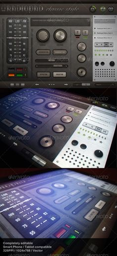 Radiopad Classic Style - Touch User Interinterface, , you can buy this GUI PSD on GraphicRiver for just $6