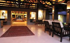 Luxury bush lodge Safari, Lounge, Indoor, Patio, Luxury, Places, South Africa, Home Decor, Airport Lounge