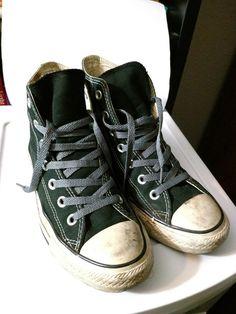 Converse Chuck Taylor All-Star Classic Black High-Tops Shoes Mens 5 Womens 7 26d48e1ae