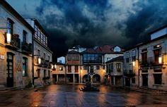 Galicia. Pontevedra. Plaza da Leña