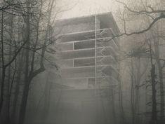Schaedler Gentsch Architects, House in the Forest #switzerland #schweiz #concrete #beton #facade #fassade #structure #construction #design #minimalism #rationalism #architecture #architects #architect