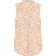 Victoria Beckham Denim Lace blouse ($340) via Polyvore