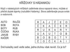 Křížovky s hádankou – Dětské stránky Word Search, Periodic Table, Words, School, Periodic Table Chart, Periotic Table, Horse