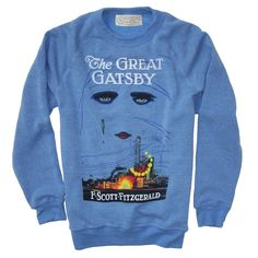someday....this will be mine!!!!  The Great Gatsby book cover fleece | Outofprintclothing.com