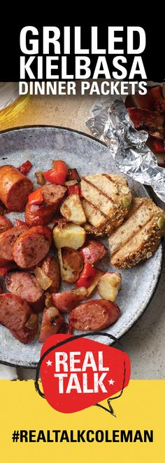 Fire up the grill! We're drooling just looking at these foil packets 😋 Foil Packet Dinners, Foil Dinners, Foil Packets, Grilled Kielbasa, Grilled Sausage, Easy Cooking, Cooking Recipes, Summer Grilling Recipes, Rib Recipes
