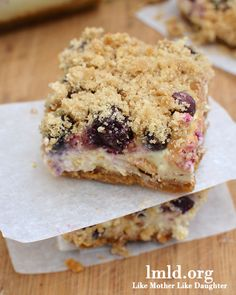 Boisenberries were once thought of as a California treasure,so why not bake them into the most delicious bosenberry, blueberry, and lemon cheesecake bars?