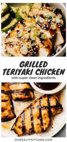 Healthy Grilled Teriyaki Chicken relies on clean ingredients for full flavor without losing that sticky saucy texture. Swap sugar and processed condiments for honey, coconut aminos, and fresh garlic and ginger. This grilled teriyaki chicken is super clean, so you can eat up without any guilt! It's perfect for paleo, gluten free, and grain free comfort food cravings. #teriyaki #healthygrilling #grilledchicken #paleo #glutenfree #grainfree Chicken Teriyaki Recipe, Chicken Marinades, Chicken Recipes, Grilled Chicken Thighs, Healthy Grilling, Sweet Potato Casserole, Real Food Recipes, Healthy Recipes, Food Cravings