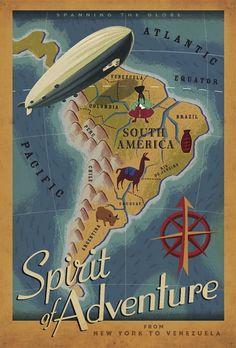 retro south america