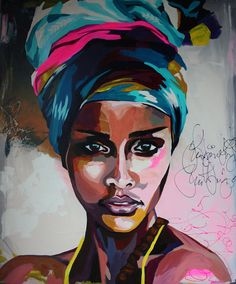 African american art, african art, abstract portrait, potrait painting, a. African Art Paintings, Black Artwork, Afro Art, Arte Pop, Portrait Art, Portrait Ideas, Painting & Drawing, Potrait Painting, Abstract Portrait Painting