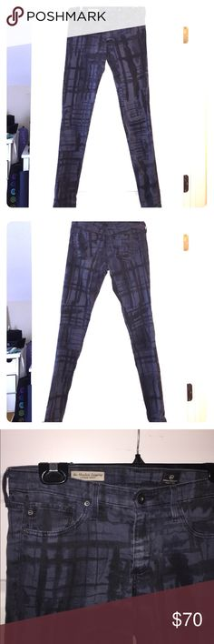 AG absolute legging skinny jeans • Like New AG absolute legging-extreme skinny jeans dark blue with black accents and some stretch (27) [worn several time] AG Adriano Goldschmied Jeans Skinny