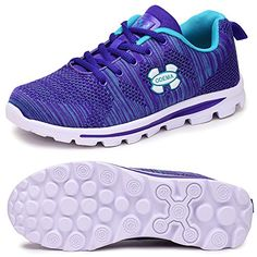Odema Women Mesh Running Shoes Walking Sneakers 85 BM US Purple    Read  more at 6a308a355