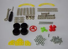 DIY Metal Toys. Metal material. 91 pieces per box. Able to assemble up to 7 different designs. Improves intelligence and creativity. Suitable for children aged 6 years old and above. Selling for $7.90 per box. Like us at https://www.facebook.com/pages/ChucklingBaby/675475065907287.