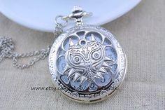 Majora's Mask pocket watch http://www.etsy.com/au/listing/177126126/majoras-mask-owl-pocket-watch-necklace