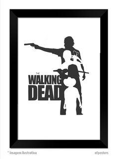 Poster The Walking Dead Moldura preta ou branca #A3 #A4 #A5 #efposters #efposters_oficial #TWD #thewalkingdead #poster #posterpersonalizado #posterthewalkingdead #posterTWD