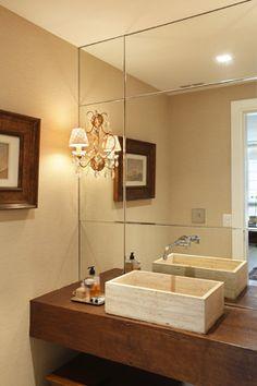 espelho lindo para o lavabo ou banheiro