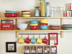 Um post cheio de dicas pra decoração e organização de cozinhas pequenas #cozinhando