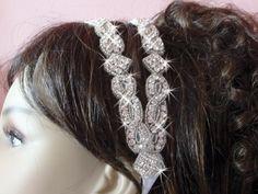 Wedding Headbands Jeweled, Wedding Headband, Wedding Hair Accessories, Bridal Crown Tiara, Wedding Headpiece, Rhinestone  Wedding Halo by bridalambrosia on Etsy