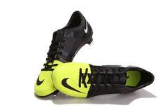 Chaussures de foot nike Launch GS Noir Vert pas cher
