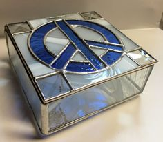 Contemporary Stained Glass Box  Keepsake Box  by PeaceLuvGlass