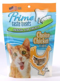 Prime Taste Treats Chicken Flavor Dental Treat for Cats, 2.1 oz/59g * Find out more about the great product at the image link.