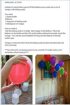 If you do this the balloons will not float it is filled with which is heaver than air Party Hacks, Diy Party, Party Ideas, Birthday Fun, Birthday Parties, Birthday Ideas, The Balloon, Birthday Party Decorations, Holiday Fun