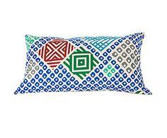 #EDO Coussin patchwork Coton et lin, Multicolore – 40*25