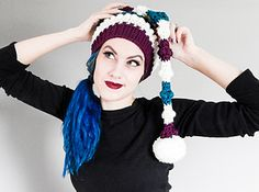 Bumpy Sleigh Ride Elf Cap by Frenchie Leigh