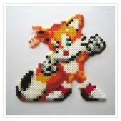 sandylandya@outlook.es  Tails Sonic hama mini beads - Pixel Art Shop