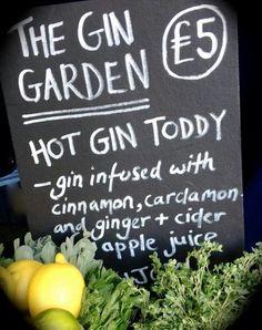 Hot gin toddy