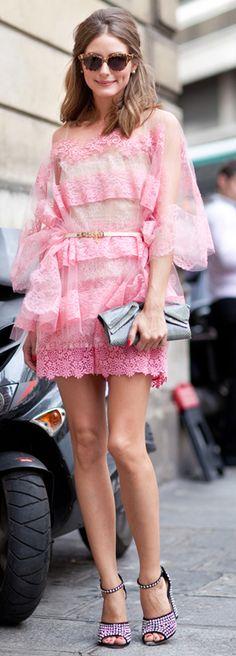 Pink lace / valentino