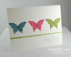 I like the colors that Becky Jensen used and the embossing of the butterflies.