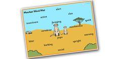 Safari Meerkat Word Mat