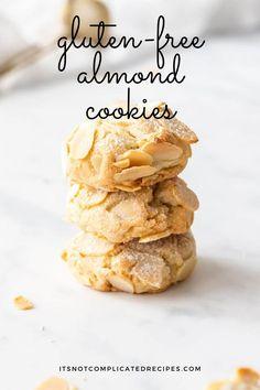 Gluten Free Almond Cookies, Almond Flour Recipes, Paleo Cookies, Milk Cookies, Gluten Free Desserts, Just Desserts, Gluten Free Recipes, Cookie Recipes, Delicious Desserts