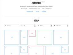 Pinterest風でレスポンシブWebデザイン対応のレイアウトを作れてドラッグで位置移動やソートも出来るスクリプト・「MUURI」