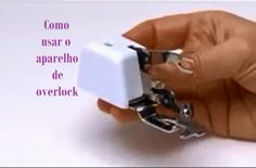 Calcador de overlock para maquinas domesticas