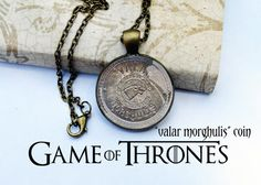 Game of Thrones Valar Morghulis Coin Antique by resinapocalypse, $17.00