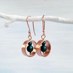 Copper Earrings, Beaded Earrings, Earrings Handmade, Drop Earrings, Handmade Jewelry Designs, Boho Fashion, Dangles, Change, Dark