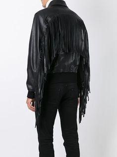 Givenchy fringed bomber jacket